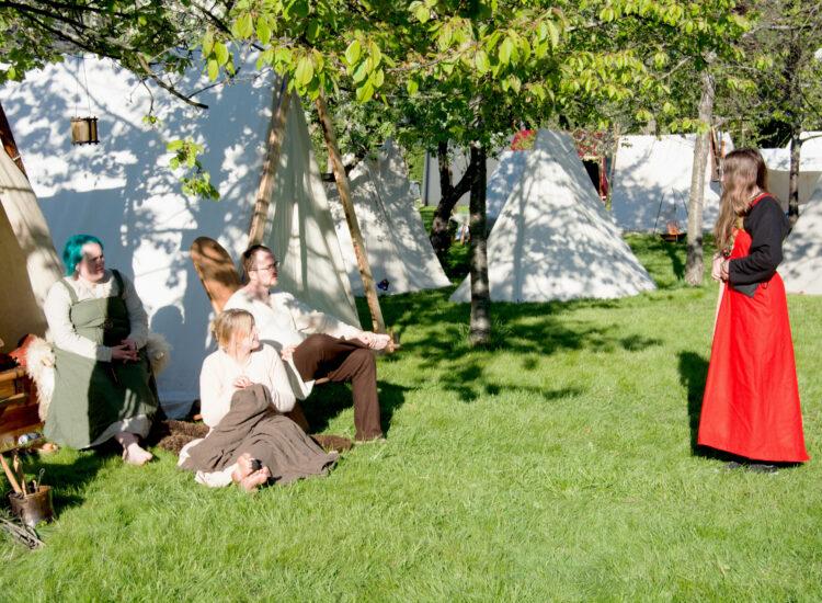 Vikings at their tents + me