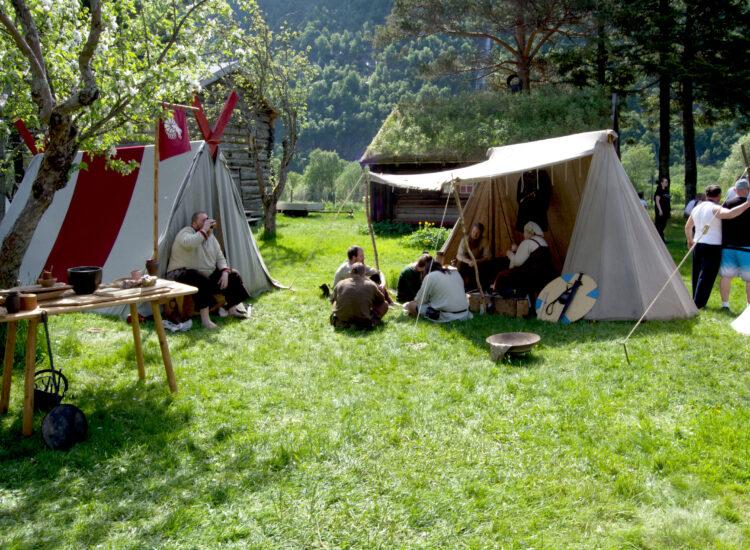 Vikings at their tents