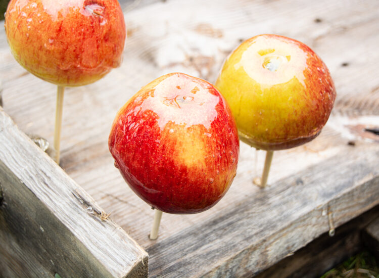 Apples with a suggar coating