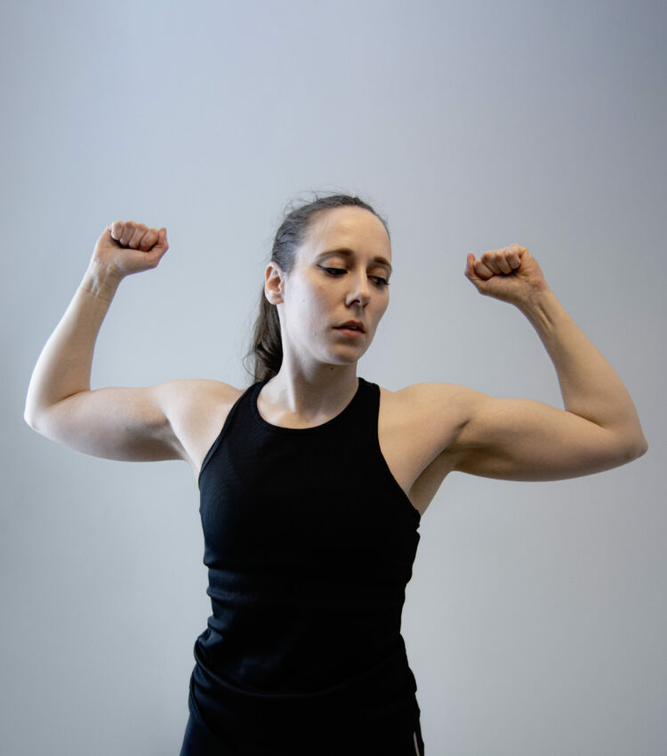 Me showing my arm muscles