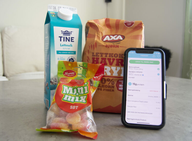 "Oats, milk, candy and the app ""Lifesum"""
