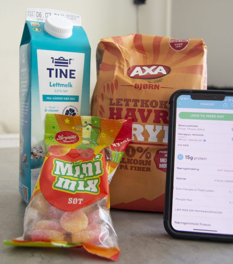 Oats, milk, candy and the app